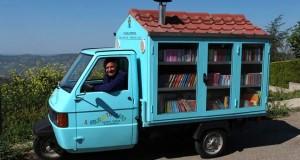 La bella fiaba lucana del maestro di Ferrandina e del suo Biblioautocarro azzurro