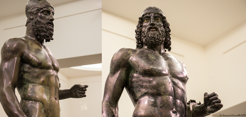 I Bronzi di Riace (a sin. il bronzo B, a destra il bronzo A) - Ph. © Ferruccio Cornicello