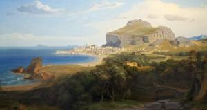 La luminosa bellezza mediterranea di Cefalù nel dipinto del tedesco Carl Rottmann