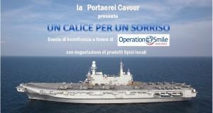 """""""Un calice per un sorriso"""". Serata di beneficenza a Taranto a bordo della portaerei Cavour"""