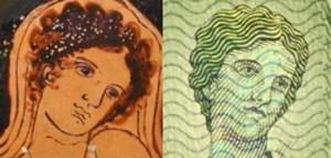 """Sulle nuove banconote in euro della serie """"Europa"""" il volto della mitica principessa tratto da un vaso di Taranto"""