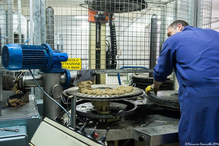 Fase di preparazione della pressatura, al frantoio Labianca di Trinitapoli – Ph. © Ferruccio Cornicello