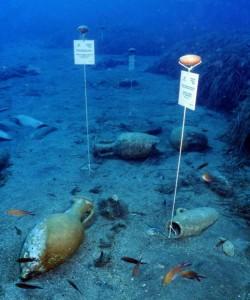 Scorcio dell'area archeologica sottomarina, Gela