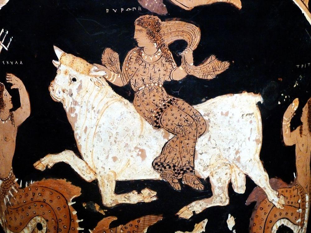 Campania - Particolare dal Cratere di Assteas da Saticula (Sant'Agata de'Goti), IV° sec. a.C. - Museo Archeologico di Paestum