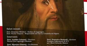 """A Lagonegro convegno di presentazione delle analisi scientifiche sul """"ritratto lucano"""" di Leonardo da Vinci"""