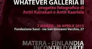 """Due artisti finlandesi donano alla Fondazione Sassi di Matera le foto del progetto """"Wathever Galleria II"""""""