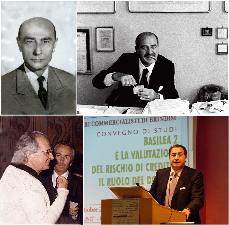 Da sin. in senso orario: Guido Le Noci, Paolo Grassi, Giacomo Giacobelli, Francesco Lenoci