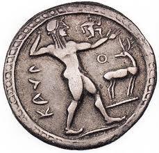 Statere incuso d'argento da Kaulonia, VI° sec. a.C.