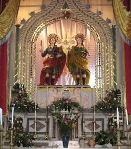 Le statue dei Santi Medici a Riace (Reggio Calabria)