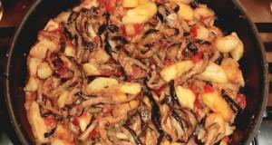 Seccatini di zucchine con patate e pomodori