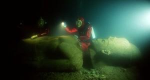 """Grazie a una mappa interattiva """"rivive"""" la città egizia sommersa di Thonis-Heracleion"""